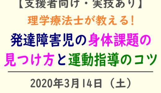 療育支援者支援者向けセミナーのお知らせ【2020年3月14日(土)】